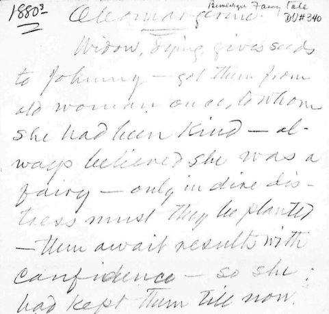 First Paragraph of Mark Twain's story, in Twain's Handwriting